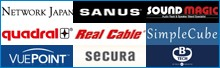 Network-Japan SANUS SoundMagic QUADRAL RealCable Vuepoint SECURA リンク